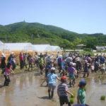 泥んこまみれ!大騒ぎの自然体験「田植え体験会」