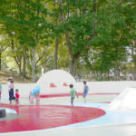姪っ子と松代公園で水遊び!