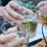 お庭でBARのススメ ~カクテル風ジュースで乾杯☆~