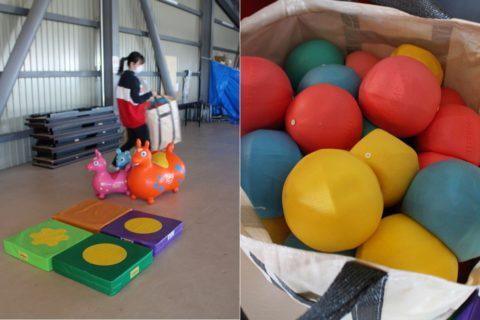 使う用具は、子どもの動きを引き出すために選び抜かれたもの。
