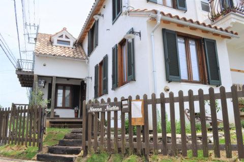 トスカーナ風の家が目を引きます