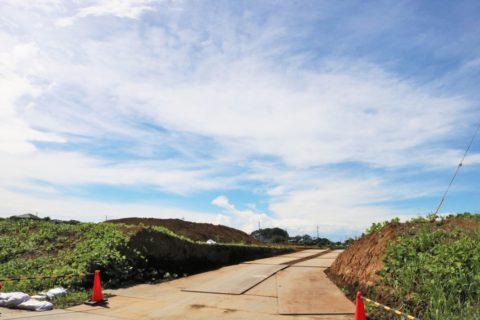 「(仮称)香取台地区小学校」が2023年4月の開校に向け、香取台吉祥公園のそばに建設中です
