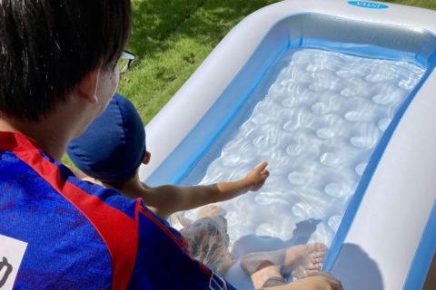 メリット2:念願のプールも!庭で気軽に外遊びができる